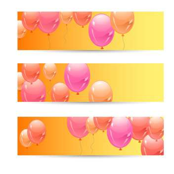 Colorful balloon background vector illustration - Free vector #132061