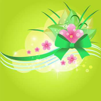 Green vector floral background - vector #132091 gratis