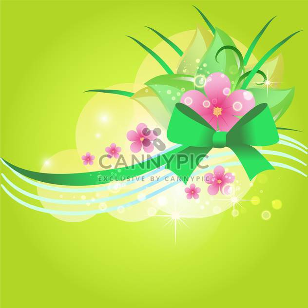 Grüne Vektor floral background - Kostenloses vector #132091