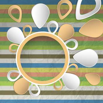 Vector drops with striped colored background - Free vector #132101