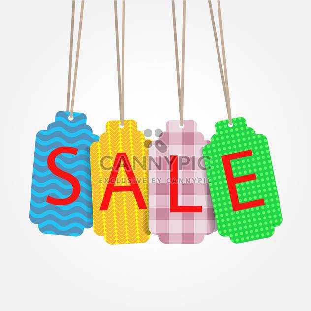 Verschiedenen Verkauf Etiketten auf weißem Hintergrund - Kostenloses vector #132141