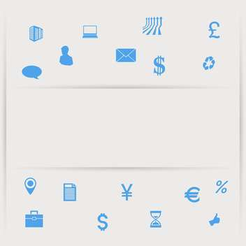 Banking and finance blue icon set on gray background - vector gratuit #132181