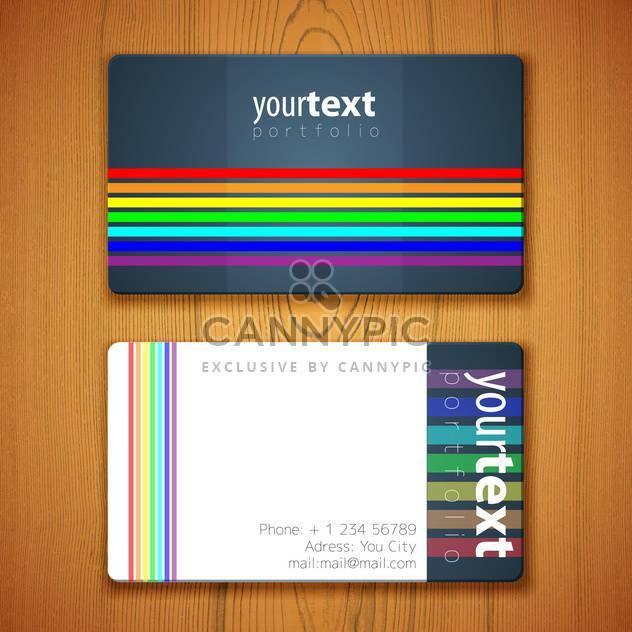 Visitenkarten-Vorlage auf hölzernen Hintergrund - Free vector #132231
