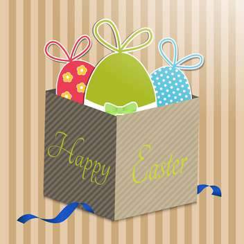 Vector illustration with Easter eggs in the gift box - Free vector #132251