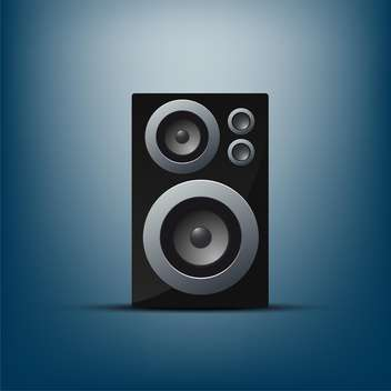 Musical speaker on blue background,vector illustration - vector gratuit(e) #132271