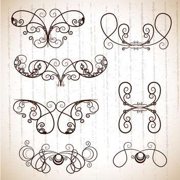 Vintage frames for design ,vector illustration - бесплатный vector #132281