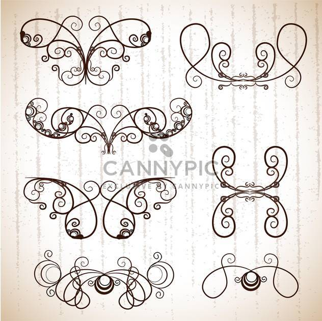 Vintage frames for design ,vector illustration - Free vector #132281