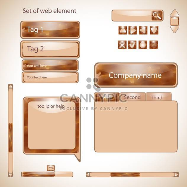 Vektor-Satz von Web-Elemente, Vektor-illustration - Kostenloses vector #132291