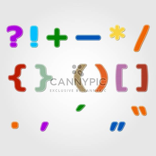 colorful punctuation marks,vector illustration - Free vector #132361