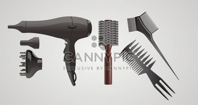 Vektor-set Zubehör für Haar auf grauem Hintergrund - Kostenloses vector #132411