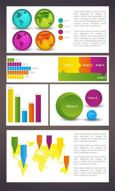 Business infographic elements,vector illustration - Free vector #132421