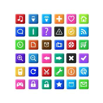 Vector set of icons on white background - vector gratuit(e) #132441