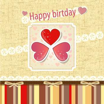 Retro birthday scrapbook set vector illustration - бесплатный vector #132461