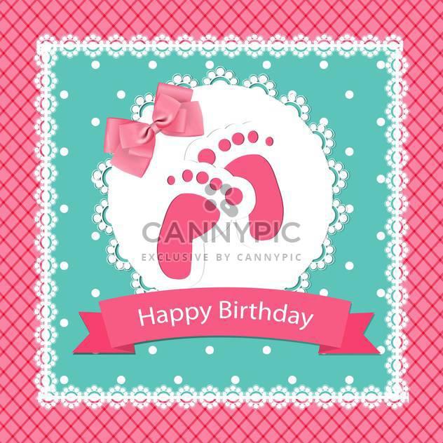 alles Gute zum Geburtstag Baby-Anreise-Karte - Free vector #132511
