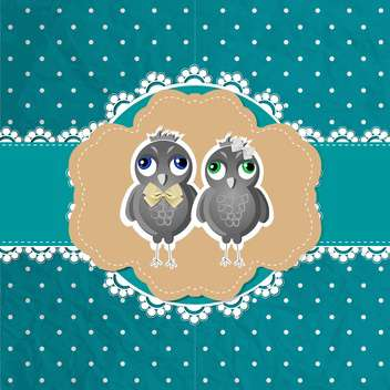 vector floral frame with birds - vector gratuit #132521