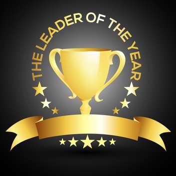 vector leader trophy cup icon - Free vector #132571
