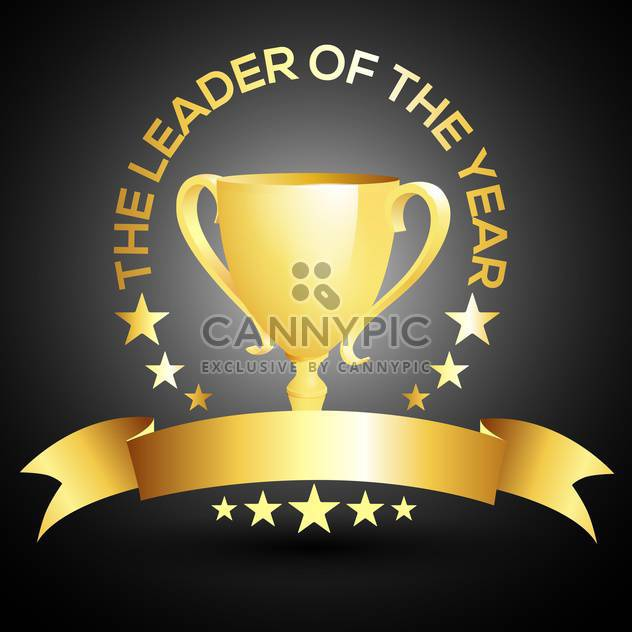 vector leader trophy cup icon - Free vector #132571