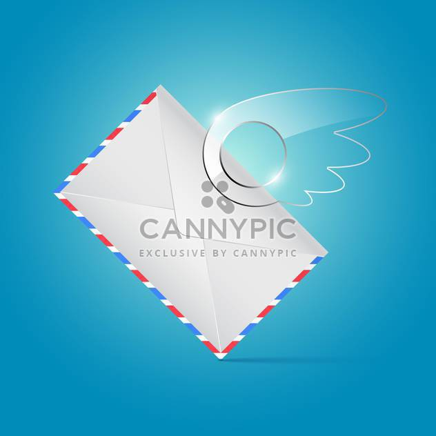 envelope with glossy wing background - Free vector #132581