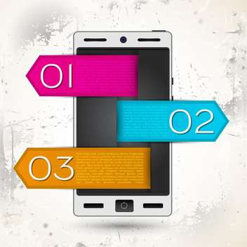 vector smartphone screen with tags - бесплатный vector #132601