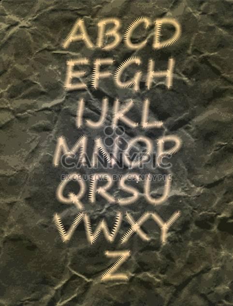 alphabet letters vector set - Free vector #132611