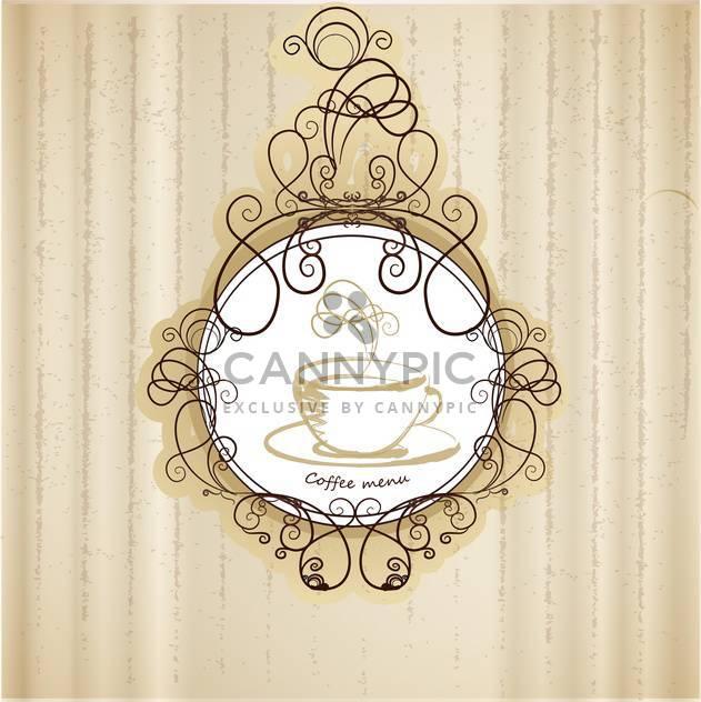 retro coffee menu background - Free vector #132651