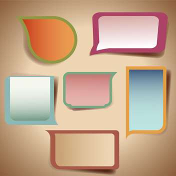 set of colorful speech bubbles - vector gratuit #132671