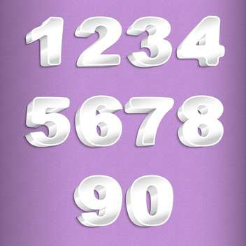 vector numbers set background - vector gratuit(e) #132691