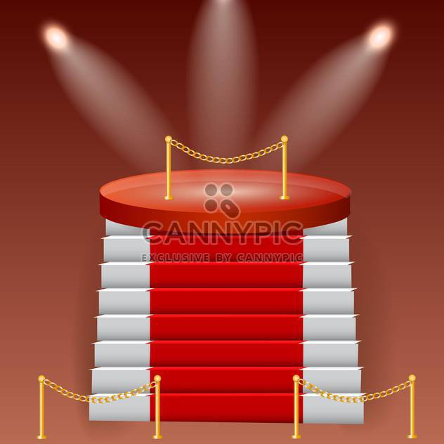 red stage podium background - Free vector #132761