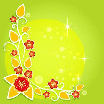 spring green floral background - vector #132811 gratis