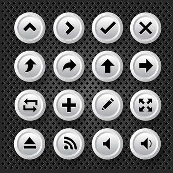 web arrows icons set background - vector gratuit #132841
