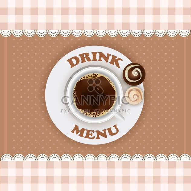 vintage drink menu design template - Free vector #132851