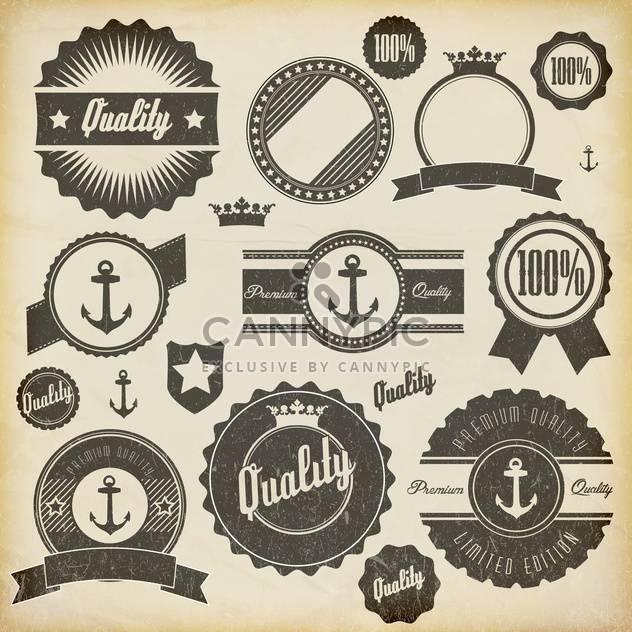 Jahrgang Premium Qualität-Etiketten-set - Kostenloses vector #132861