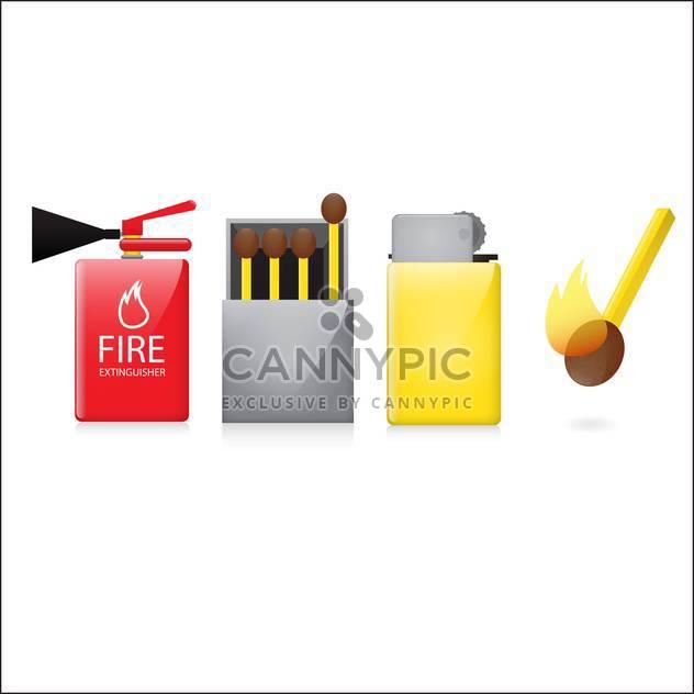 Legen Sie vier Feuer-Symbole Abbildung - Free vector #132881