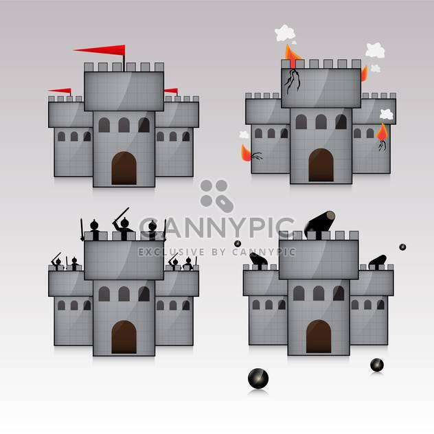 Burg und Waffen mit Kerneln illustration - Kostenloses vector #132891