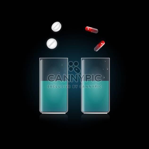 medizinische Tabletten im Glas mit Wasser - Free vector #132901