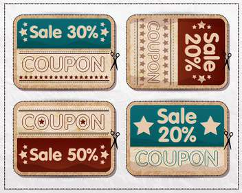retro vintage badges and labels - vector gratuit #132941