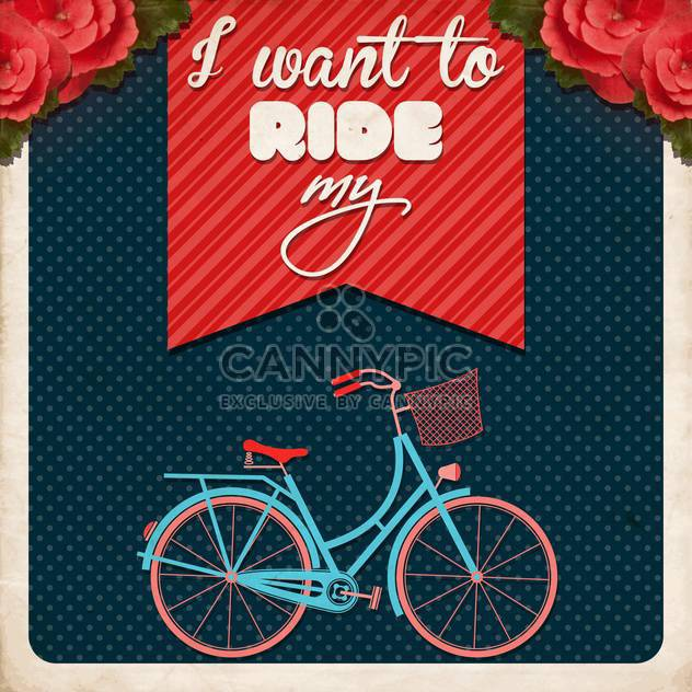 i want to ride my bike poster - Free vector #133001