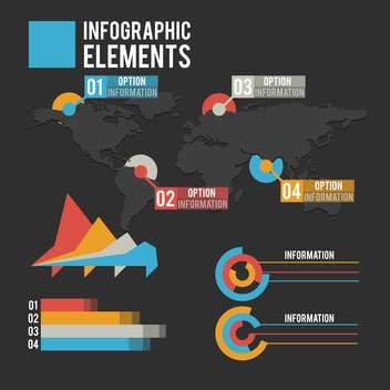 business infographic elements set - vector gratuit #133011
