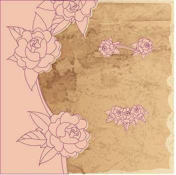 vector vintage floral frame - Free vector #133031
