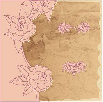 vector vintage floral frame - Kostenloses vector #133031