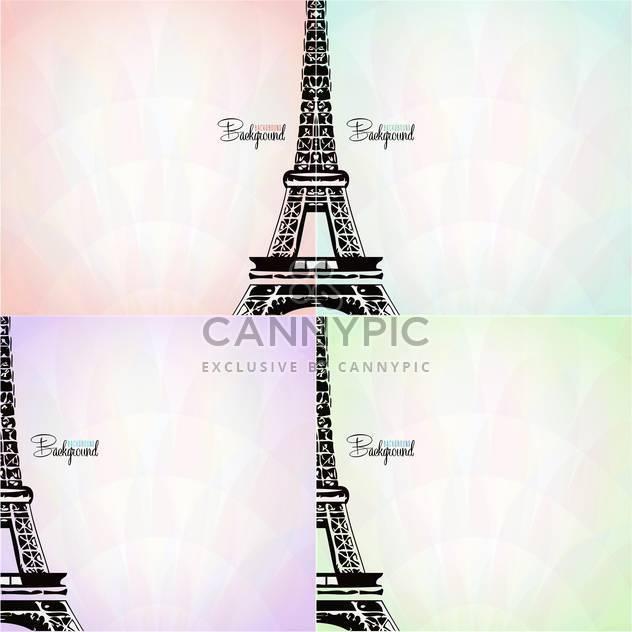 Vektor-Karte mit Eiffelturm - Free vector #133101