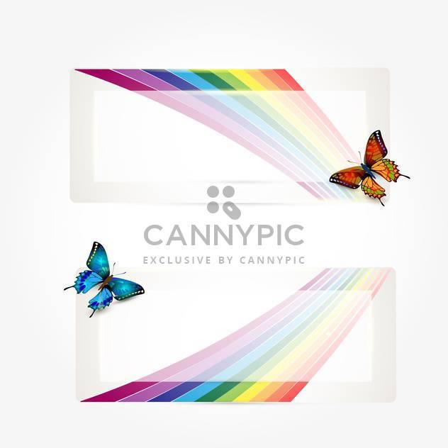 Schmetterlinge mit Regenbogen Spur Hintergrund - Kostenloses vector #133121