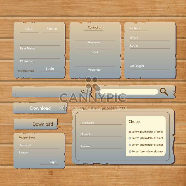 website design template navigation elements - Free vector #133181