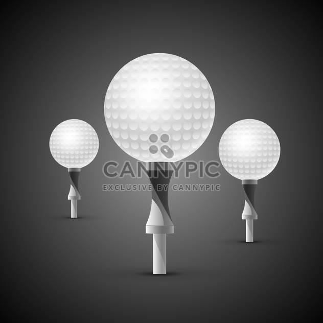 golf balls on tees illustration - Free vector #133201