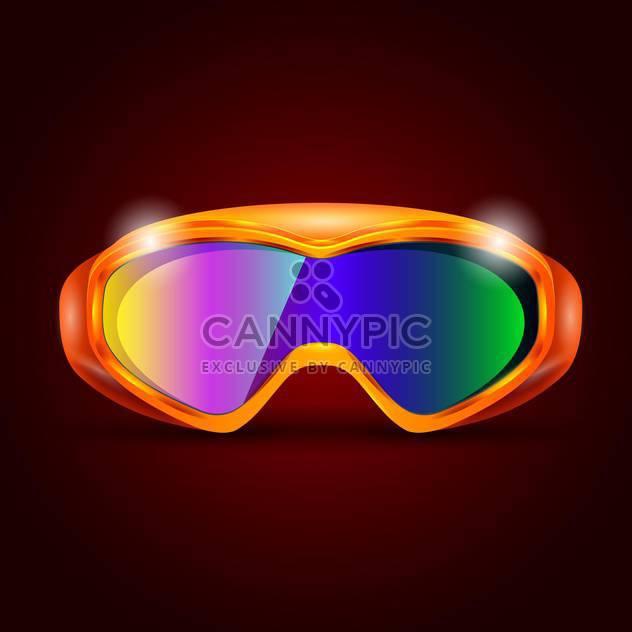 ski sport goggles illustration - Free vector #133211