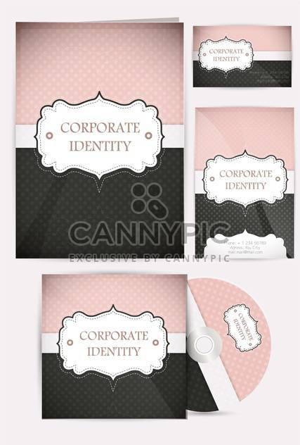 selected corporate templates set - Free vector #133311