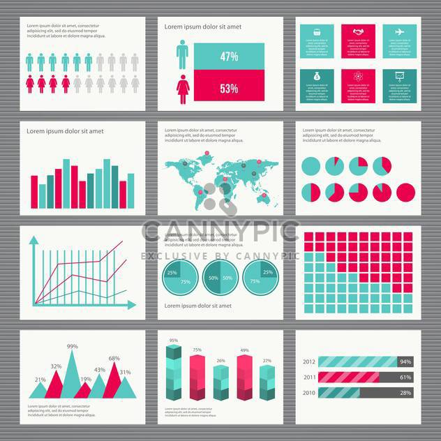 business retro infographics set - Free vector #133351