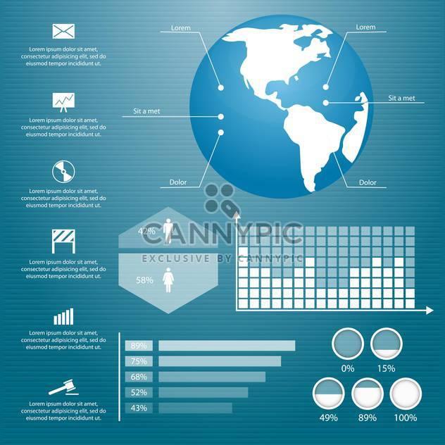retro business infographics set - Free vector #133361