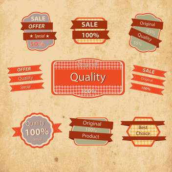 Vintage styled premium quality labels - Free vector #133431