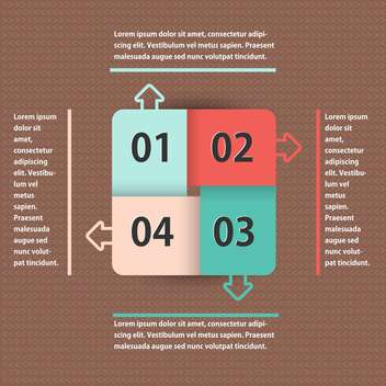 abstract business background with numbers - vector gratuit #133461